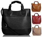 Ladies Leather Style Designer Celebrity Bucket Tote Shopper Bag Satchel Handbag