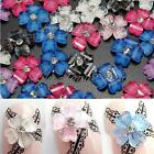 30X 3D Shine Glitter Nail Art Tips Decoration Acrylic Clover Flower Rhinestones