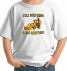 BIG BROTHER backhoe construction PERSONALIZED WITH NAME T-Shirt  DIGGER DIRT MUD