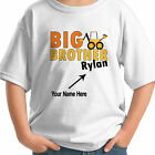 BIG BROTHER BOLD CONSTRUCTION DIGGER  DESIGN PERSONALIZED NAME KIDS T-SHIRT
