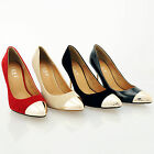 NEW WOMENS POINTED TOE COURT STILETTO MID HIGH HEELS LADIES SHOES SIZE 3 4 5 6 7