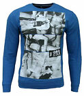 New Soul Star Men's Candice Fashion Casual Lightweight Sweatshirt Top blue 1781