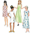 McCall's 6098 Sewing Pattern to MAKE Cute Girls' Quick Easy Dresses in 2 Lengths