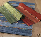 COTTON HAND DYED RUGS FAIR TRADE 75 x 135cm Reds, Greens, Blues *NEW*