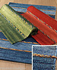 COTTON HAND DYED RUGS FAIR TRADE 60 x 90cm Reds, Greens, Blues *NEW*