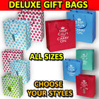 3 KEEP CALM CARRY ON NOVELTY POLKA DOT LARGE GIFT PRESENT BAGS BIRTHDAY PARTY