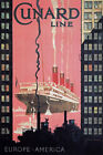 TX213 Vintage Cunard Line Liner Europe America Cruise Ship Travel Poster A4