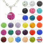 Dazzing!!! Disco ball Crystal Rhinestones Clay Shamballa Necklace Pendants 47cm