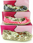 New Womens Flower Ballerina Slip On Canvas Pumps Espadrilles Shoes Size 3-8 UK