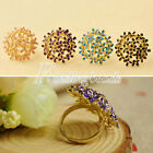 HOT Fashion Women's Sweet Lovely Temperament Flower Ring Adjustable Wholesale