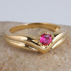 Crown Shape Women Fashion Gold Filled Ring Size Selectable Sole Stone