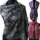AU SELLER Pashmina&Shiny Silver thread Warp SCARF/SHAWL SC002