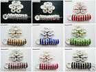 Kyпить 100p Czech Crystal Rhinestone Silver Rondelle Spacer Beads 4mm 5mm 6mm 8mm 10mm  на еВаy.соm