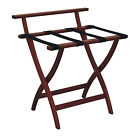 Wall Saver Home Luggage Storage Rack Holder Stand Frame Material Mahogany Finish