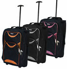 LIGHTWEIGHT SMALL WHEELED HAND LUGGAGE TROLLEY CABIN FLIGHT BAG SUITCASE NEW