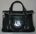 GUESS by Marciano Sweet Pea Bag Purse Sac Black Shiny Synth Leather Flap Top New