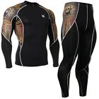 FIXGEAR C2L-SET-B27 Skin Compression Under training Base layer Shirt & Pants MMA