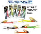 FLYING C  FIRE-EYE Ones with RED Bead Salmon Fishing Lures  DOWN TO 89p EACH