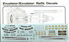 STAR TREK EXCELSIOR & ENTERPRISE B 1/1000 SCALE Conversion Decals JTG-009