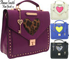 Ladies Anna Smith LYDC Designer Crossbody Tote Studded Satchel Handbag Key Charm