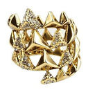 House of Harlow 1960 pyramid wrap ring with pave image
