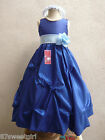 ROYAL LIGHT SKY BLUE BRIDAL PARTY FLOWER GIRL DRESS 2T 2 3 4 5 6X 6 7 8 10 12 14