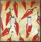 Light Switch Plate Cover - Southwestern Decor - Chili Peppers - Red - Kitchen