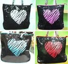 Super Trendy Sparkly Sequins Bag with Heart Shape Fashion Style Tote Summer Bag