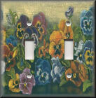 Light Switch Plate Cover - Antique Pansy Flowers - Home Decor - Pansies