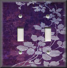 Light Switch Plate Cover - Floral Leaves - Purple - Modern Home Decor