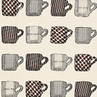 CANVAS MUSLIN COTTON UPHOLSTERY SOFA FABRIC CAFE COFFEE POTTERY TALL MUG CUP 44""