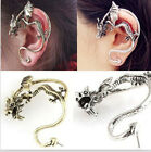 Gothic Punk Rock Temptation Dragon Ear Stud Suff Wrap Clip Earrings Accessorie E