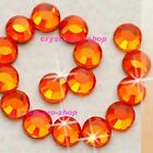 Orange Iron On Flatback Hotfix Rhinestones Crystal Glass Bling Diam​ante design
