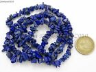 5mm x 8mm Natural Lapis Lazuli Gemstone Chip Nugget  Loose Beads 35'' Strand