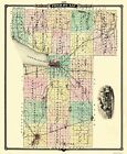 Old County Maps - FOND DU LAC COUNTY WISCONSIN WI LANDOWNER MAP 1878