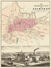 Old City Map - Haywards California Landowner - Boardman 1878 - 23 x 30.38