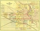 Old City Map - South Bend Indiana - Higgins 1875 - 23 x 29.00