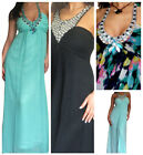 New Womens Dress Evening Party Long Formal Cocktail Chiffon Gown Size 8 10 12 14