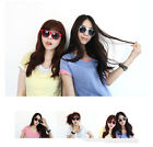 Fashion Candy Frame Unisex Black Lens Wayfarer Nerd Geek Glasses Sunglasses