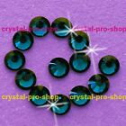 Blue Zircon Iron On Shine Hot fix Rhinestones Crystal (Hotfix) 2mm 3mm 4mm 5mm