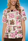 Tree Of Hope Cherokee HQ Breast Cancer Round Neck Scrub Top 4820 TRHP