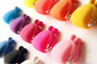 2X Colorful Candy Girl Rubber Cute Colorful Silicone Coin Bag Purses Wallets