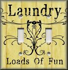 Light Switch Plate Cover - Laundry Loads Of Fun - Yellow - Home Decor Room