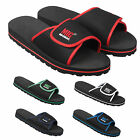 Mens Beach Flip Flop Velcro Shower Mule Sandals Size 6 to 12 UK - SPORTS GYM