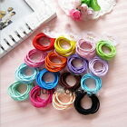 Women Girls Fashion 10 PCS in 1 Set Thin Hair Elastics Colourful Hair Bands