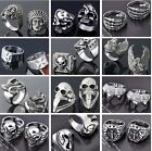 1PC Men's Stainless Steel Skull Devil Eagle Claw Finger Ring Gothic Jewelry Rock