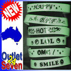 Wrist Band Wristband Bracelet Glow In The Dark Kids Birthday Party LOL OMG Hot