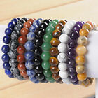 10mm Nature Gem Stone Natural Gemstone Round Beads Stretchy Bracelet Bangle Gift