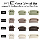 Stretch SUREFIT Jacquard Couch Cover - 1 Seater, 2 Seater, 3 Seater - 4 Colors