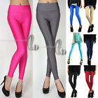 AU SELLER High Waisted Neon Shiny Dance Pants Disco Leggings P133